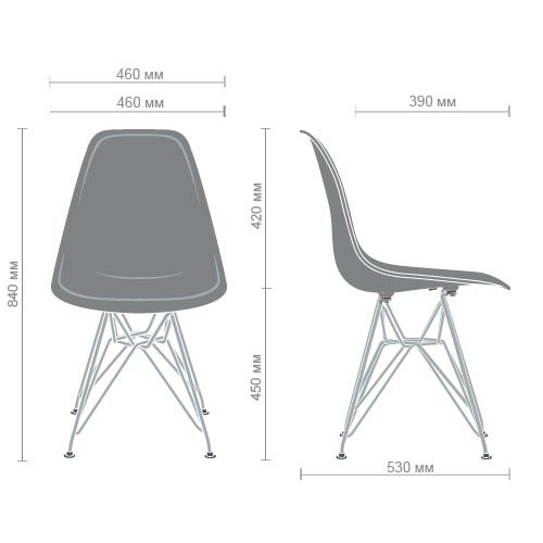 Chair like Eams metal legs – white - Фото №6