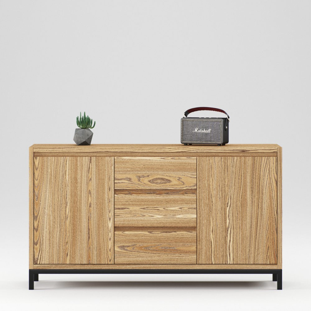 Oxford chest 2 doors and 3 drawers - Фото №1