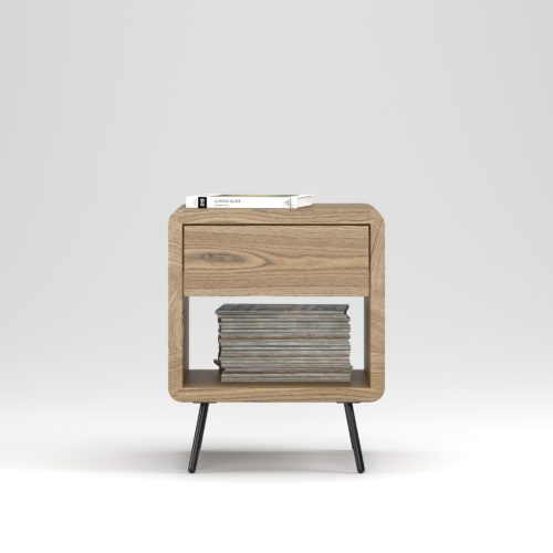 Bedside table Bloom 1 drawer - Фото №23-0020