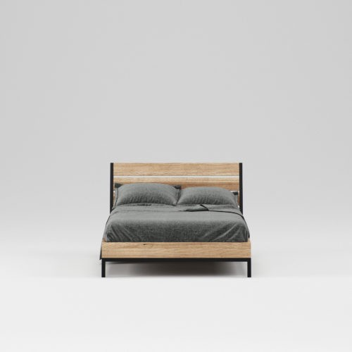 Single Wooden Bed Oxford 120x200 Cm