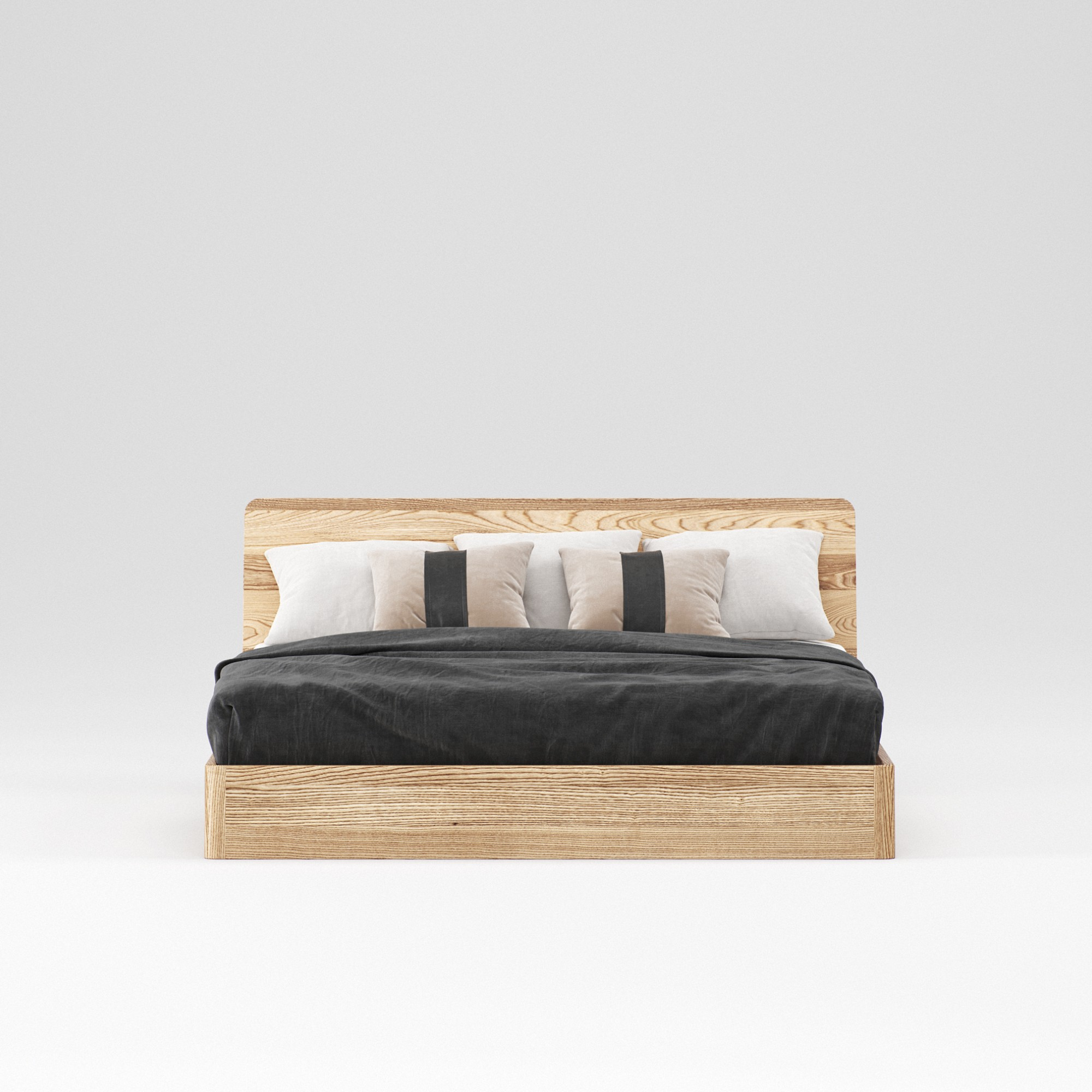 Double wooden bed Malme 180×200 – show room sample - Фото №3