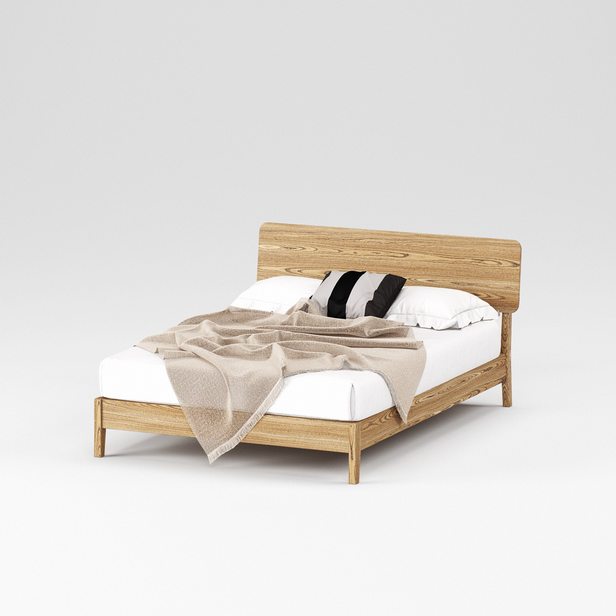 Double wooden bed Norwich 140×200 – show room sample - Фото №1