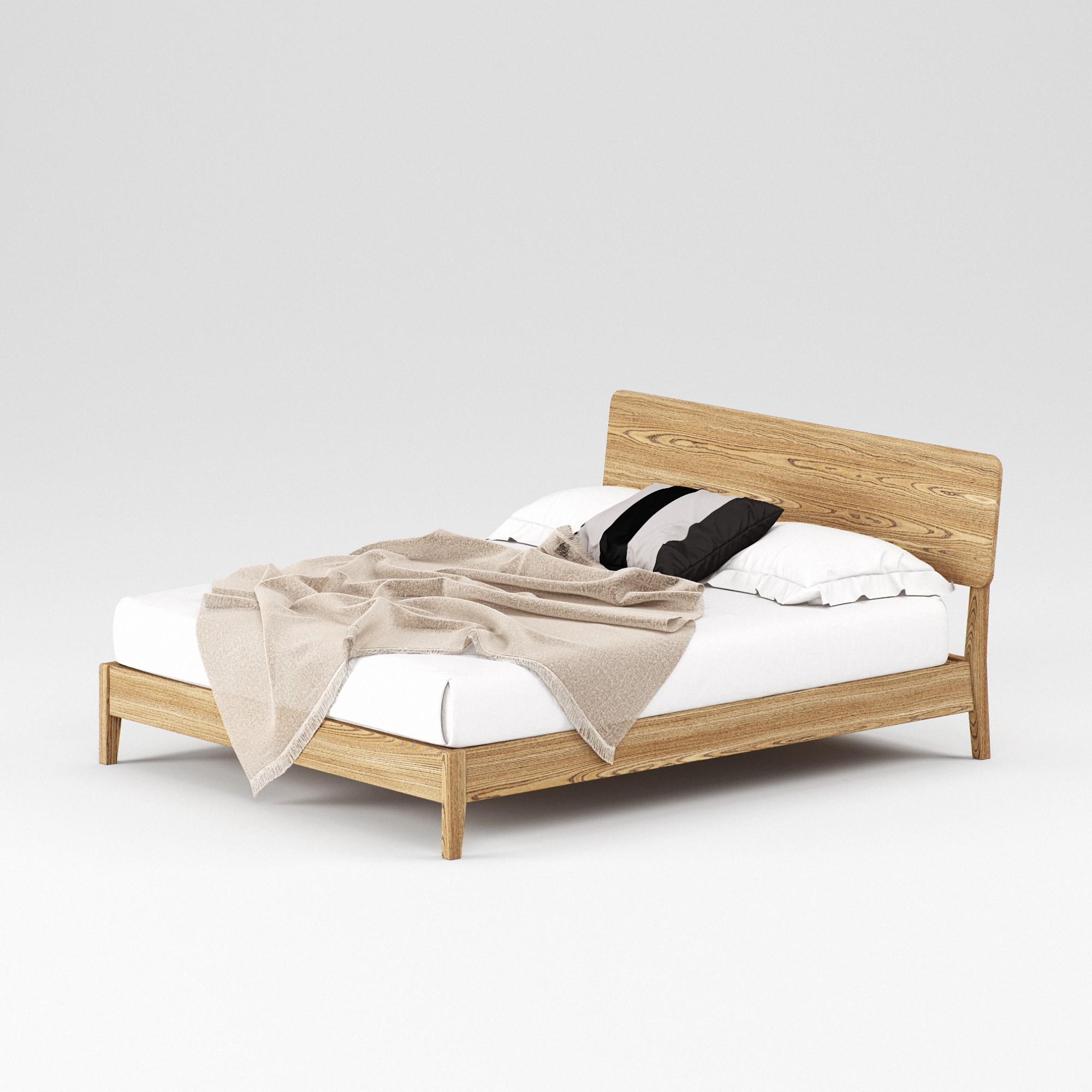 Double wooden bed Norwich 160×200 - Фото №2