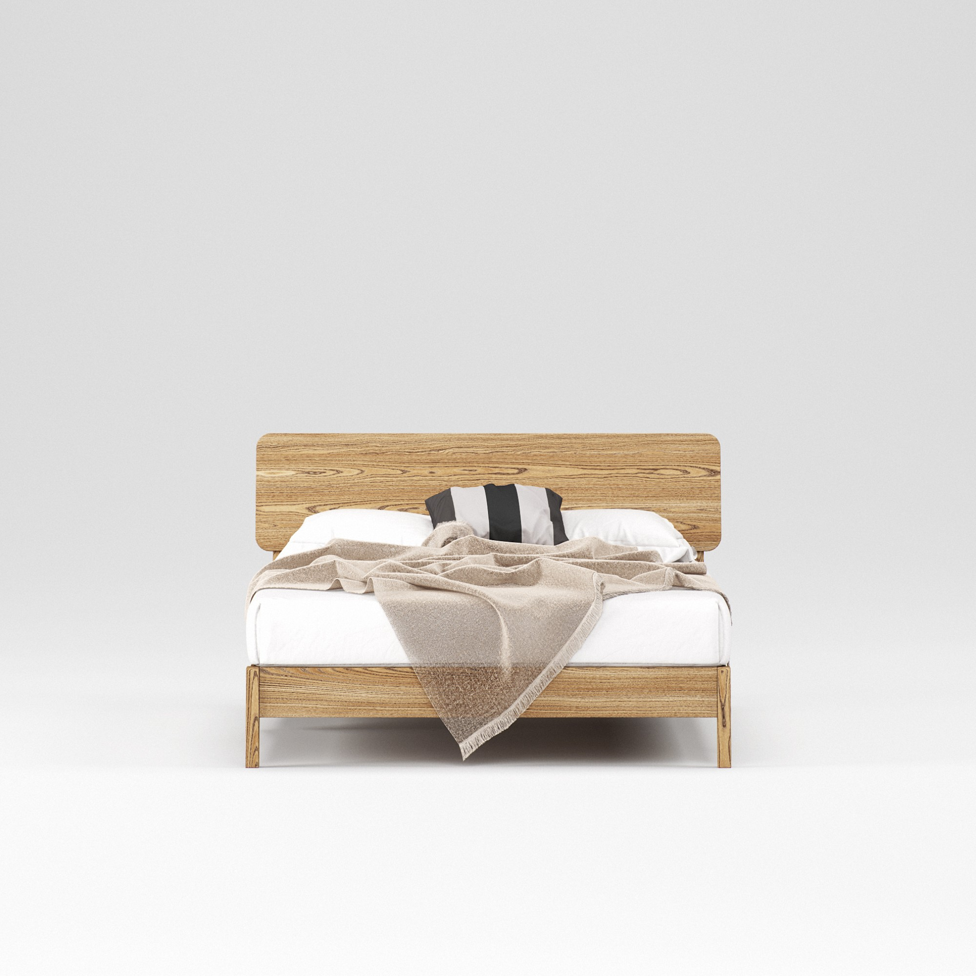 Double wooden bed Norwich 140×200 – show room sample - Фото №3