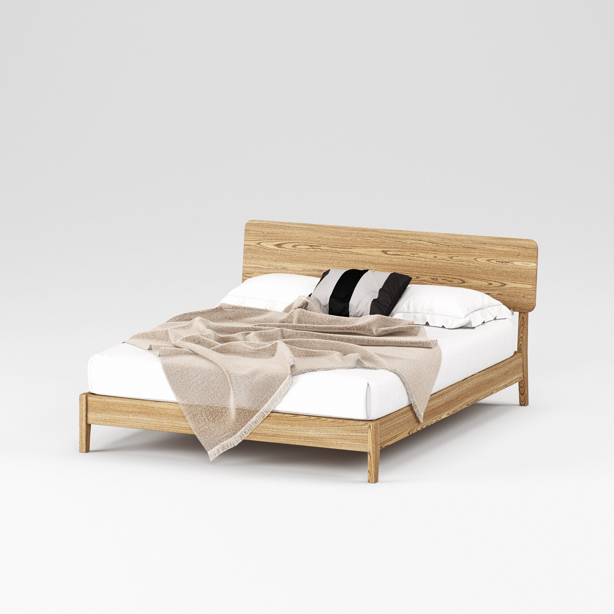 Double wooden bed Norwich 160×200 - Фото №1