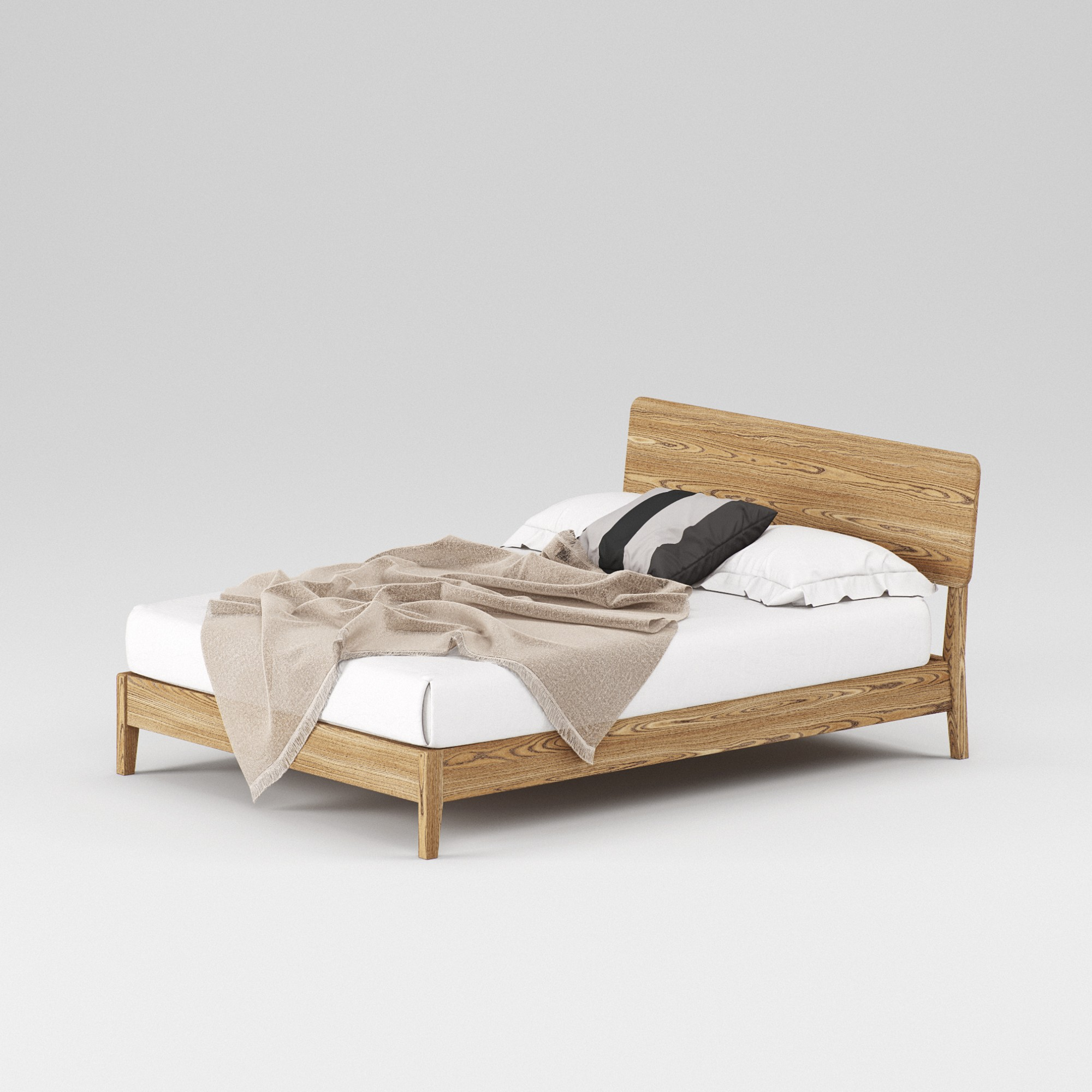 Double wooden bed Norwich 140×200 – show room sample - Фото №2