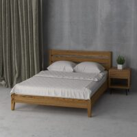 Double wooden bed Omis 140×200 - Фото №4
