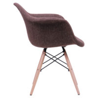 Soft chair like Eames – brown - Фото №5