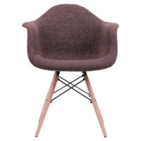 Soft chair like Eames – brown - Фото №4