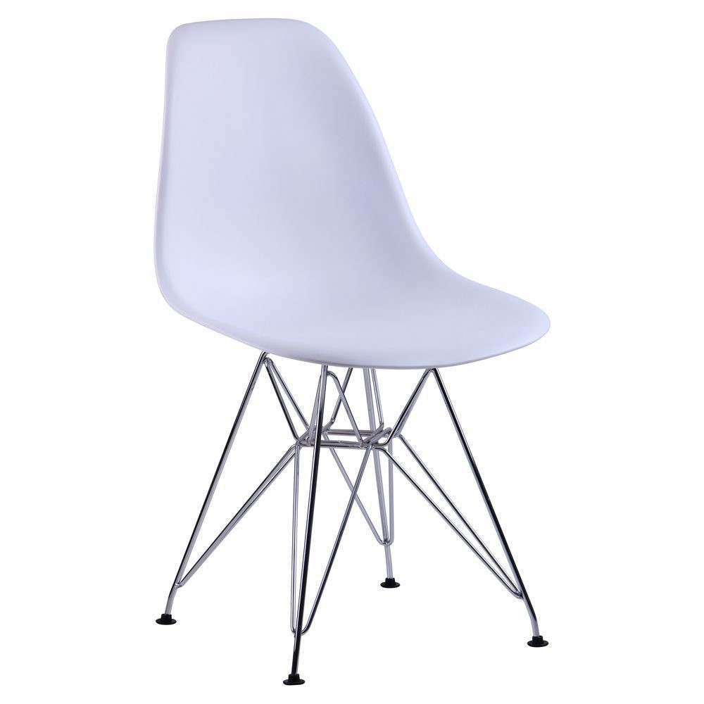 Chair like Eams metal legs – white - Фото №1