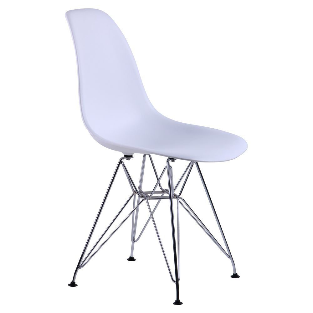 Chair like Eams metal legs – white - Фото №5