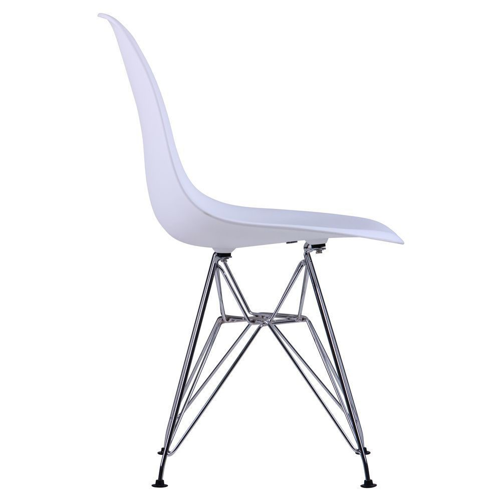 Chair like Eams metal legs – white - Фото №4