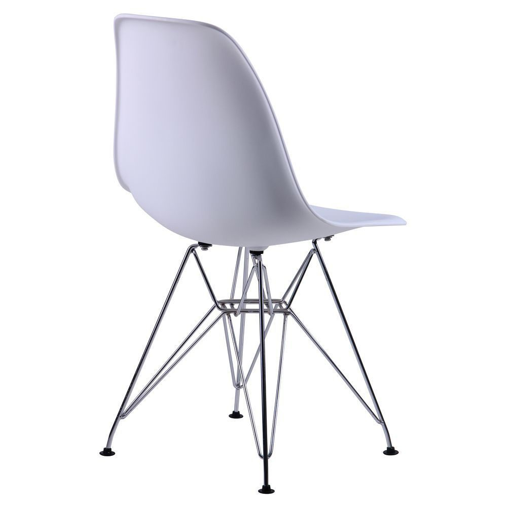Chair like Eams metal legs – white - Фото №2