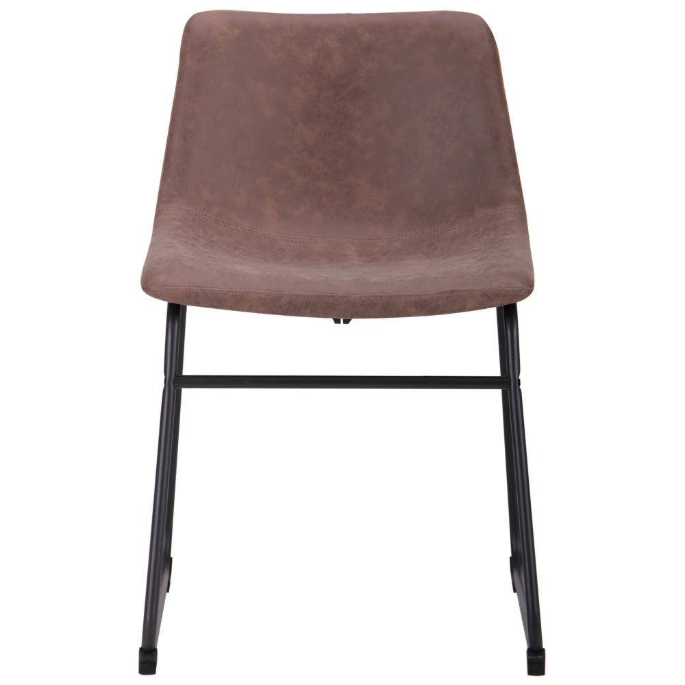 Alabama chair – brown – fauxnubuk - Фото №4