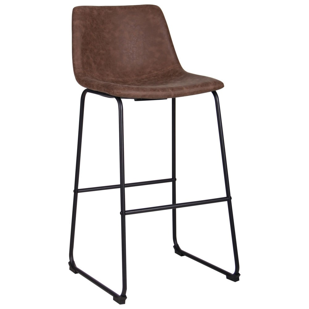 Arizona bar chair – brown – fauxnubuk - Фото №2