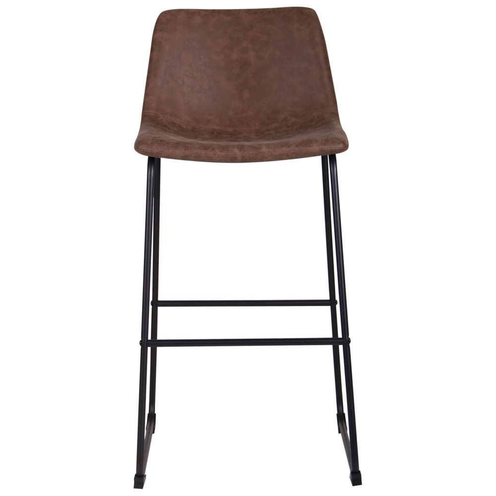 Arizona bar chair – brown – fauxnubuk - Фото №3