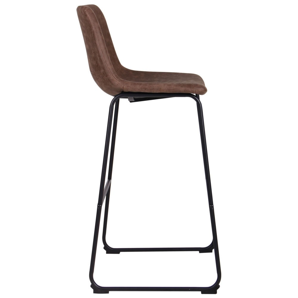 Arizona bar chair – brown – fauxnubuk - Фото №4
