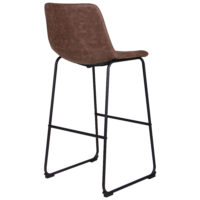 Arizona bar chair – brown – fauxnubuk - Фото №5